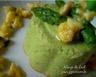 Flans d'Asperges Vertes au Parmesan et Vinaigrette Mimosa