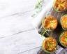 Flans de poireau au surimi