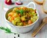 Fondue de poireaux carottes et pommes de terre