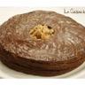 Galette feuilletée chocolat garniture amande parfumée cognac et brisures de marrons glacés