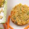 Galettes de blé aux carottes et aux poireaux