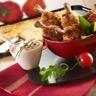 Galettes de polenta tomates confites et mozzarella