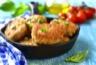 Galettes de poulet et légumes