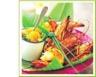 Gambas grillées brocolis et chutney d'abricots
