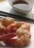 Gambas sautées à l'ail au gingembre au piment d'espelette et son tempura de lé