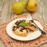 Gâteau à la ricotta au chocolat blanc et aux poires