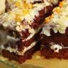 Gâteau au chocolat crème et amandes