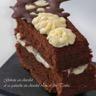 Gâteau au chocolat et sa ganache au chocolat blanc et fève Tonka