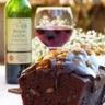 Gâteau au chocolat et vin chaud