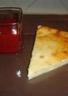 Gâteau au fromage blanc et coulis de framboises