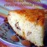 Gâteau aux amandes citron et chocolat blanc