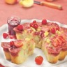 Gâteau aux pommes et fruits rouges