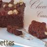 Gâteau choco-caramel au beure salé nappé lait et noisettes