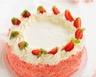 Gâteau d'anniversaire glacé aux biscuits roses de Champagne