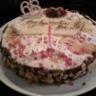 Gâteau d'anniversaire poire chocolat