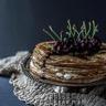 Gâteau de crêpes à la confiture de cerise d'Itxassou