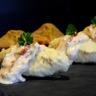 Gâteau de foies de volaille quenelles sauce Boursin échalote et ciboulette et tomates confites