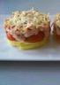 Gâteau de pommes de terre au saumon et aux tomates cerises