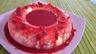 Gâteau de semoule au coulis de framboises