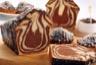 Gâteau marbré chocolat-noix de coco