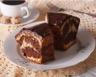 Gâteau marbré chocolat-vanille