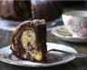 Gâteau moelleux au yaourt marbré au chocolat