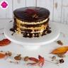 Gâteau nu à la banane aux noix de pécan et au chocolat - Chocolate Banana naked cake
