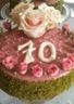Gâteau pistache au chocolate blanc et à la rose
