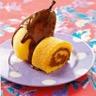 Gâteau roulé façon poire belle-Hélène