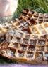 Gaufres marbrées biscuits roses et chocolat noir