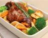 Gigot d'agneau aux légumes rôtis au four