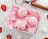 Glace à la fraise sans sorbetière