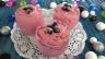 Glace ou crème glacée au cassis
