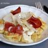 Gnocchis de pomme de terre poêlés sauce parmesan et coppa