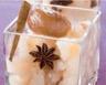 Granité de poires aux marrons glacés