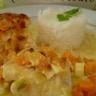 Gratin aux deux poissons (saumon et cabillaud) et petits légumes