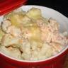 Gratin chou-fleur pomme de terre et saumon
