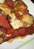 Gratin d'aubergine tomate et chèvre au curry