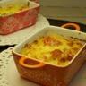 Gratin de courge spaghetti et tomates cerise