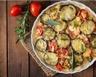 Gratin de courgettes tomates lardons et gruyère