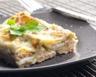Gratin de lasagnes-saumon-poireaux et sauce mascarpone