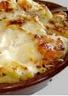 Gratin de macaronis aux rillettes de canard