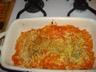 Gratin de pâtes au jambon et à la tomate