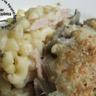 Gratin de pâtes aux côtes de blettes aillées mascarpone et jambon