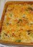 Gratin de pâtes aux poireaux et crevettes