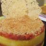 Gratin de polenta au jambon de parme