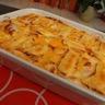 Gratin de pommes de terre purée de carotte et reblochon