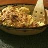 Gratin de pommes de terre sauce crémeuse au chèvre