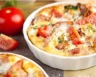 Gratin de pommes de terre tomates et mozzarella