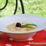 Gratin poires-mûres et sabayon à l'eau de vie de Poire Williams